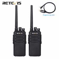 dijital telsiz telsizleri toptan satış-2 adet 10 W DMR Dijital Radyo IP67 Su Geçirmez Walkie Talkie 10Km Retevis RT81 UHF 400-470 MHz VOX Şifreli Iki Yönlü Telsiz Uzun menzilli