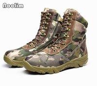 armeekampf stiefel männer großhandel-Männer Wüste Camouflage Tactical Boots Herren Arbeit Safty Schuhe Armee Boot Militares Tacticos Zapatos Knöchel Kampfstiefel