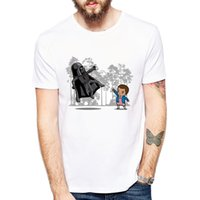 Wholesale Wholesale Hipster Clothes - Wholesale-Newest 2018 Fashion Stranger Things T Shirt Men's Cartoon Character T-shirt Summer Hipster Cool Tops Tee Clothing