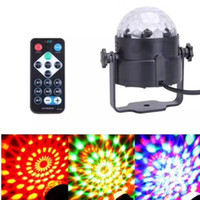 Wholesale Voice Activated Remote Control - Hot Sale 3W RGB IR Remote LED Stage LED Crystal Magic Ball Sound Control Laser Stage Effect Light Party Disco Club DJ Light Mini Laser