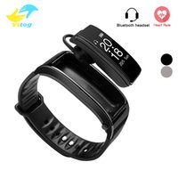 Wholesale heart rate monitor for iphone - For iphone samsung smartphones y3 smart watch Bracelet 2 in 1 bluetooth headphones headset Heart Rate Monitor