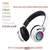 Wholesale bluetooth stereo audio headset for sale - Group buy 8 Colors Bluetooth Headsets HD Headphones wireless DJ stereo audio over ear Headsets Earphones with sealed box free DHL in stock
