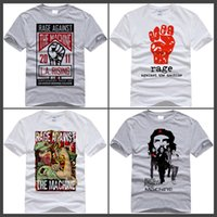 Wholesale t shirts print machines - Hecoolba 2017 Men Print Rage Against The Machine Fashion T-shirt O-Neck Short sleeves Che Guevara Rap Metal T Shirt HCP756