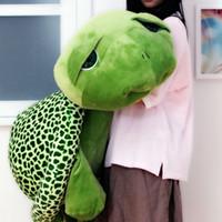 Wholesale big eye turtle plush toy for sale - Group buy Dorimytrader Hot Giant Tortoise Stuffed Toy Dolls Jumbo Animal Big Eye Turtle Toys Pillow for Children Gift cm cm DY60445
