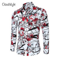 Wholesale imported shirts - Cloudstyle 2018 Brand New Men Shirts Casual Flora Long Sleeve Business Formal Shirt High Quality Slim Fit Men Imported -Clothing