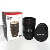 becher tasse box großhandel-2017 kreative kameraobjektiv kaffeetasse canons cup 2 generation von len becher für canon fans fotografie neuheit geschenke
