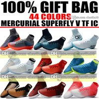 Wholesale White Ankle Toe Socks - High Ankle Soccer Cleats Socks MercurialX Proximo Indoor Soccer Shoes Turf Mercurial Superfly CR7 Neymar TF IC ACC Football Boots Ronaldo