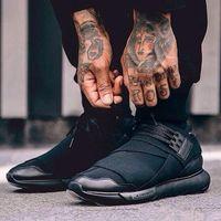 y3 zapatos hombres al por mayor-Zapatos casualesY-3 QASA RACER Hight Sneakers Transpirable Hombres y Mujeres Zapatos casuales Parejas Y3 Zapatillas de deporte al aire libre Tamaño Eur40-45 Envío gratis.