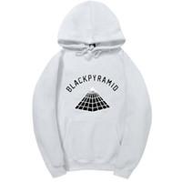 черные спортивные костюмы женщин оптовых-4AM  Chris Brown BLACK PYRAMID Hip Hop Hoodie Men And Women Sweatshirts Skateboard Street Style Cotton Tracksuit Hoodies