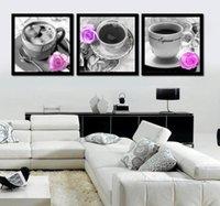 lona da pintura a óleo para a cozinha venda por atacado-Grande Arte Da Lona Moderna Abstrata Still Life Café Pão Pintura Imagem Cópias Da Parede Na Lona Café Pintura A Óleo Para Cozinha a02