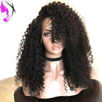 ingrosso parrucca ricci bionda rossa-Parrucca anteriore sintetica ricci in fibra sintetica a densità piena resistente al calore per le donne nere.