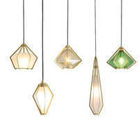 Wholesale office club clothing for sale - Post Modern Bedroom Color Glass Pendant Light Nordic Creative Restaurant Clothing Store Pendant Lamp Personality Bar Club Cafe Hanging Light