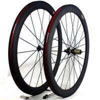 Wholesale race wheelset - carbon bicycle wheels 50mm basalt brake surface clincher tubular road cycling bike wheelset width 25mm 3K matt racing carbon wheels