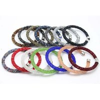 Wholesale Silver Bangle Mesh Cuff - 2018 Mesh Crystal Cuff Star Bracelet For Women With Crystal Stones Filled Clasp Bracelets Bangles Hot Sale Free Shipping G279S