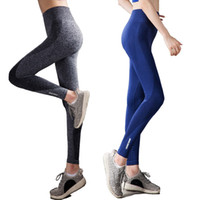 ingrosso collant donna-Nuove donne Yoga Pantaloni alta elasticità Vita alta Yoga Leggings Donne Hip Up Quick Dry Fitness Sport Leggings Gym Running Tights