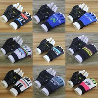Wholesale SUNWEB GIANT BORA EF QUICK STEP MOVISTAR COLOMBIA TEAM Cycling Bike Bicycle Team Antiskid GEL Sports Half Finger Gloves F