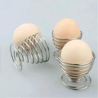 ovo que cozinha o suporte venda por atacado-Nova Primavera Ovos Cozidos Titulares de Aço Inoxidável Egg Poachers Bandeja De Fio Egg Rack de Cozinha Copo de Cozinha Ferramentas WX9-509