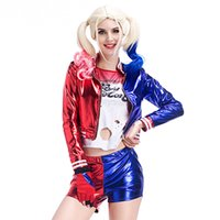 Wholesale female cosplay characters for sale - Full Set Women Harley Quinn Cosplay Costume Clear Favourite To Dress Up As Margot Robbies Character From Movie Suicide Squad