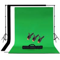 tela de foto preta venda por atacado-Atacado-Studio Photo Black White Verde Chroma Key fundo Backdrop Screen Stand Kit