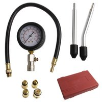 All'ingrosso-1PC Auto Vacuum Testers Portable Engine Cylinder Pressure Gauge Compression Tester Kit di strumenti diagnostici