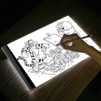 Wholesale led drawing board for sale - Group buy 2018 LED Graphic Tablet Writing Painting Light Box Tracing Board Copy Pads Digital Drawing Tablet Artcraft A4 Copy Table LED Board