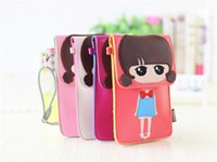 Wholesale Cover Phone Korean Style - The New Arrival Explosion Of Korean Goods Stall Fashion Casual Cartoon Children Shoulder Messenger PU Leather Bag Free Shipping