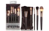 Wholesale makeup sell professional - hot selling new Makeup Brushes 5 pieces Professional Makeup Brush set free shipping