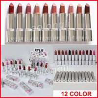 Wholesale Red Cosmetics - Kylie jenner matte Lipsticks holiday silver series 12colors lipstick Red Hot Lovesick Valentine Makeup kylie cosmetics DHL free shipping