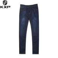 Wholesale Men Jeans China - KXP Hot Sale Mens Biker fashion Jeans Men homme Casual Denim Straight Design Blue Cheap Clothes China Brand Jeans Men hombr 6699