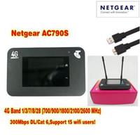 desbloqueado 4g lte router al por mayor-Desbloqueado cat6 300mbps netger 790s AC790S Aircard 4g lte mifi router dongle 4G LTE bolsillo wifi router