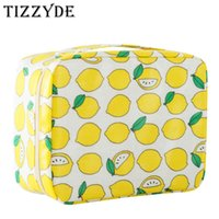 Wholesale fresh professionals - Character Fresh Lemon Woman Cosmetic Bag Large Beauty Professional Wash Necessaire Travel Toiletry Organizer Make up Bags MHM01