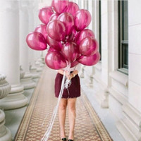 Wholesale 30pcs Coffee Brown Wine red latex balloons Happy Birthday Wedding Party Decorations Supplies Chocolate3