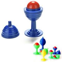 ingrosso trucco magico delle coppe-Giocattoli per bambini Magic Cup Bead Come Cup Close Up Street Magic Trick Toys 10,2 cm * 4,8 cm