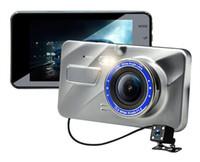 armaturenbrett-camcorder groihandel-Full Auto HD DVR 2Ch vorne 170 ° hinten 120 ° 1080P Armaturenbrett Camcorder WDR G-Sensorschleife Aufzeichnungspark Monitor dashcam Videorecorder