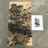 malen zhang großhandel-Retro Kalligraphie, die Kap-alte Sammlungs-Kunst-Handwerks-Geburtstagsfeier-Geschenke Zhang DA Qian Lans malt