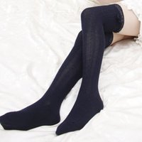 ingrosso gambali alti in ginocchio-Girl Lady Women Lace in maglia a coscia alta OVER the KNEE Calze a lungo calze calde