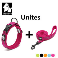 Wholesale dropshipping dog - Truelove Easy On Pet Dog Collar And Leash Set Nylon Adjustabele Collar Dog Training Leash Reflective Pet Supplies Dropshipping