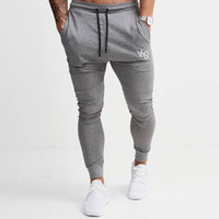 ingrosso jogger pantaloni oro palestra-New Gold Gym Medal Pantaloni sportivi fitness Stretch Cotton Fitness da uomo Pantaloni da jogging Body Engineers Jogger Outdoor