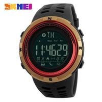 iphone remote kamera app großhandel-SKMEI 1250 Smart Watch 50M Wasserdicht Sport Bluetooth Armbanduhren App Anruf Reminder Remote Kamera No-Lade Smartwatch Für iPhone Android