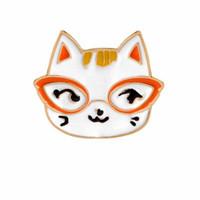 ingrosso cappelli di gatto per le donne-Cute Animal Cat di piccola dimensione Duro dello smalto spilla Pins Pins per ragazzo ragazza Uomo donna vestiti zaino cappello giacca distintivo all'ingrosso moda