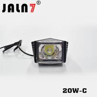lampara led para faro moto al por mayor-Bombilla LED de 20W JALN7 motocicleta Faro 12V 2200LMW conducción de motocicletas de faros proyectores de Moto del punto de luz de la lámpara principal del coche Camión