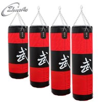 Wholesale fighting tops online - Hollow Boxing Sandbags Thicken Resistance To Fight Empty Sand Bag Oxford Cloth With Chain Training Punch Target Top Quality za4 B