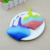 Wholesale can plants for sale - Group buy Lovely Devil Fish Colorful Squishy Jumbo Slow Rising Pu Squishies Bread For Decompression Toys Squeeze Can Relief Stress Tool my Z