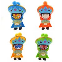Wholesale plastic face doll - Sichuan Opera Face Changing Figure Dolls Chinese Traditional Style Toys 4 Different Faces Mini Finger Fun Toys Creative Figure Toy 4 Colors