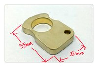 Wholesale g finger rings - EDC Single Finger Knuckle Brass Duster Ring   Paper Weight CNC Machined 35*55mm Finger Diameter 23mm Weight: 137 g .