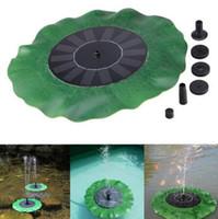 kits de loto al por mayor-Kit de panel de bomba de agua con energía solar Bomba flotante de hoja de loto Fuente Piscina de jardín Estanque de riego Bombas de piscina sumergibles CCA9626 30 piezas