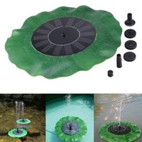 Wholesale solar powered panel water pump - Solar Powered Water Pump Panel Kit Lotus Leaf Floating Pump Fountain Pool Garden Pond Watering Submersible Pool Pumps CCA9626 30pcs