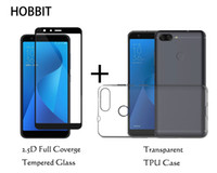 Wholesale tempered glass for zenfone - For Asus Zenfone Max Plus M1 ZB570TL Transparent Soft TPU Back Cover Case 0.3mm 2.5D Full Cover Tempered Glass Screen Protector