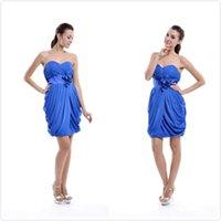 короткое синее платье для возвращения на родину просто оптовых-Дешевые Простой Милая Короткие Платья Выпускного Вечера Homecoming Dress 2018 Королевский Синий Коктейльные Платья Homecoming Party Wear