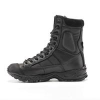 botas de combate deserto preto venda por atacado-Botas do Exército Militar Homens De Couro Preto Deserto Combate Sapatos de Trabalho de Inverno Mens Tornozelo Tático Bota Homem Plus Size